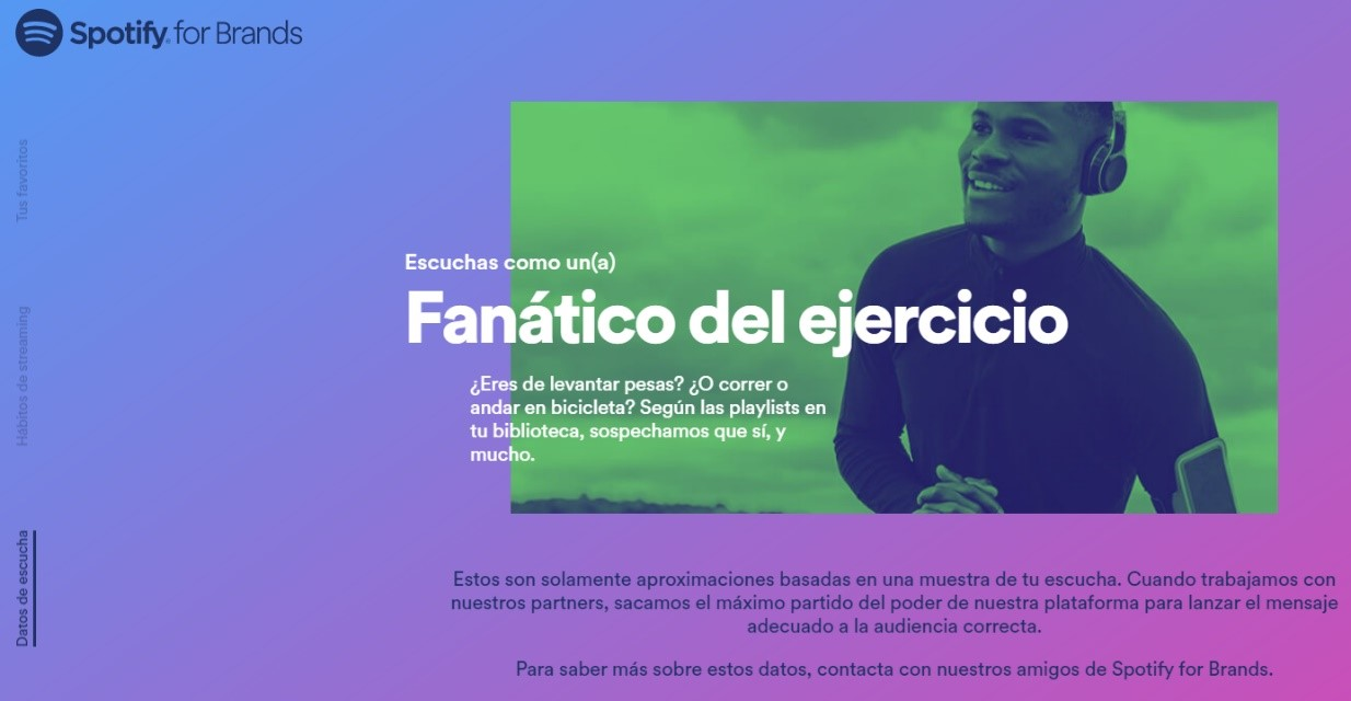 Spotify uso de datos